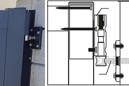 Skizze und Foto des GUARDI 3D-Bandes, mit dem Tore einfach ein- und nachgestellt werden können