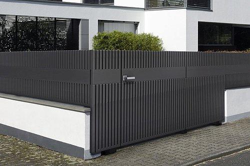 Designerzaun EPOS - Design by Studio F.A. Porsche in anthrazit