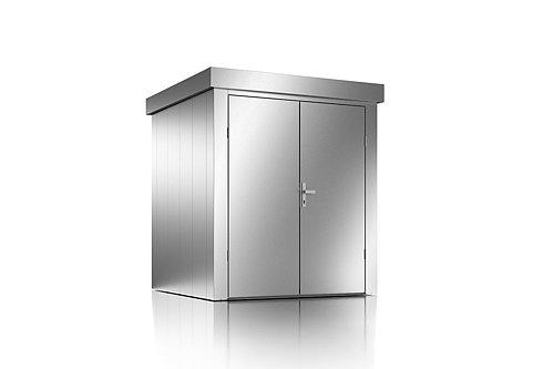 Guardi Gartenhütte aus Stahl in Größe M in silber metallic