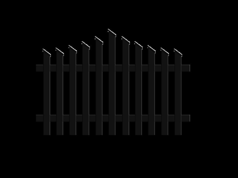 Treviso, Guardi, Österreich, Aluzaun, Zaun, Aluminium, klassisch, Jägerzaun, konvex