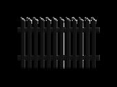 Treviso, Guardi, Österreich, Aluzaun, Zaun, Aluminium, klassisch, Jägerzaun, schräg