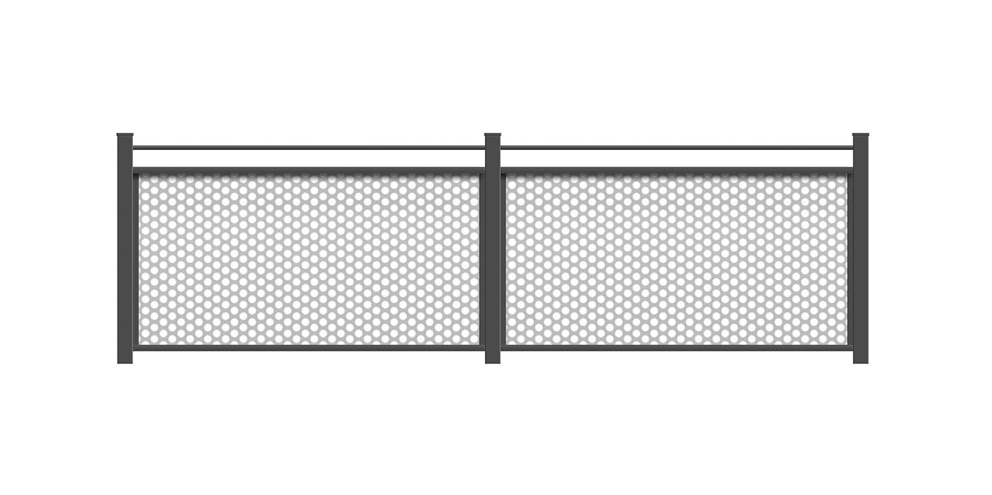 Loos, Guardi, Österreich, Aluzaun, Zaun, Lochblech, Loch, Aluminium, modern