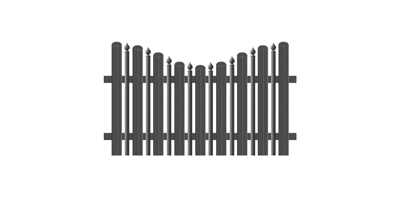 Milano, Guardi, Österreich, Aluzaun, Zaun, Aluminium, klassisch,