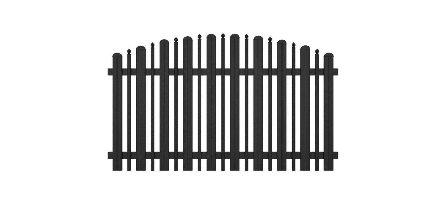 Milano, Guardi, Österreich, Aluzaun, Zaun, Aluminium, klassisch, konvex
