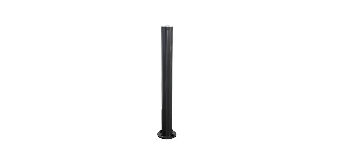 DIY Stecksystem Steher in anthrazit, Modell Stecksystem, auf weißem Hintergrund