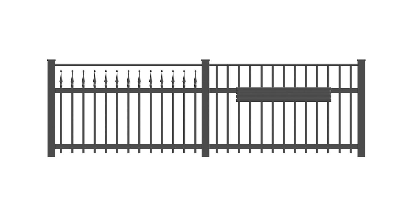 Venezia, Guardi, Österreich, Schmiedeeisenzaun, Zaun, hammerschlag, Schiebetor, Tor, Dekor, klassisch, Dekorringe
